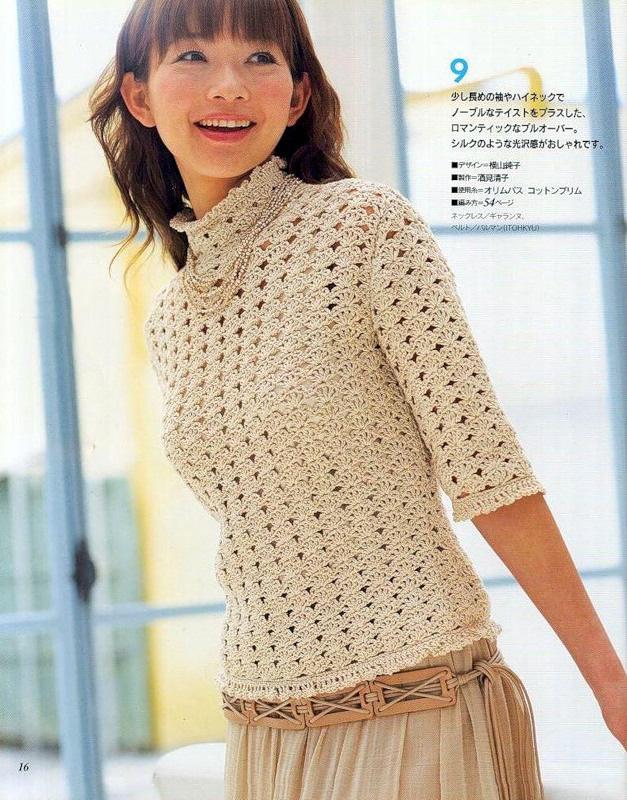 Вязание крючком модели свитеров