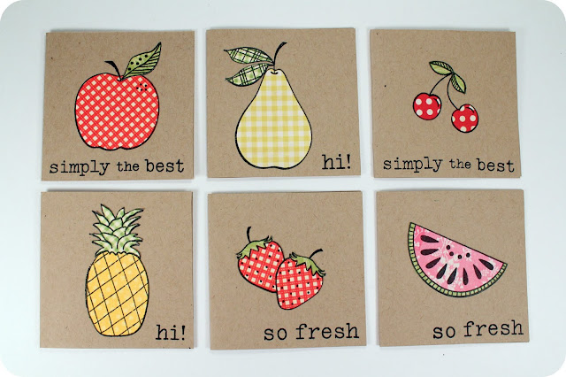 Fruit Mini Cards