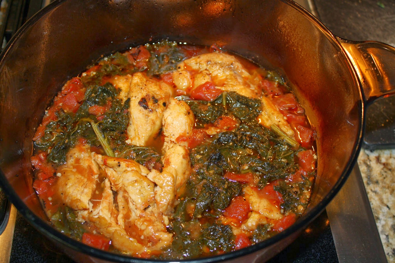 Wellness Witness: Braised Chicken with Tomatoes and Kale