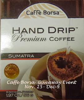 Enter to win Coffee Borsa hand drip coffee. Ends 12/9.