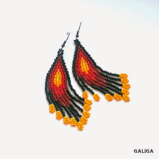 Ethnic Style Earrings-Native American Style-Beaded Earrings Inspired