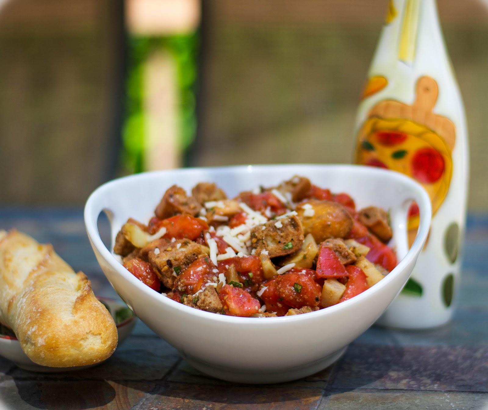 ... Kitchen: Roasted Fennel & Heirloom Tomato Panzanella Salad