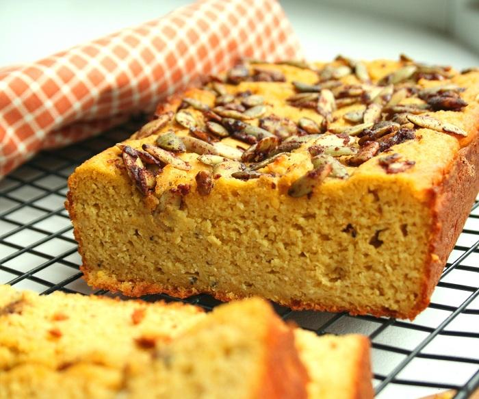 Pumpkin Cardamom Bread with Cinnamon Pepitas (Low Carb and ...