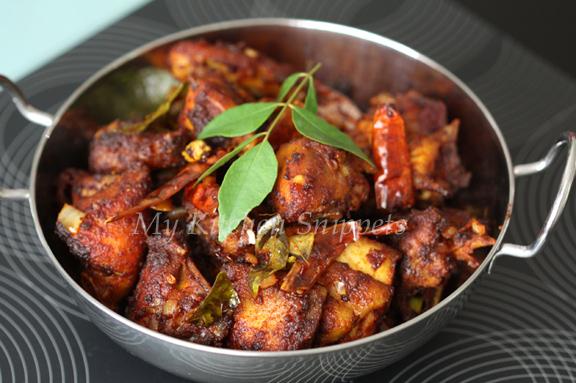 My kitchen snippets chicken varuval chicken varuval forumfinder Gallery