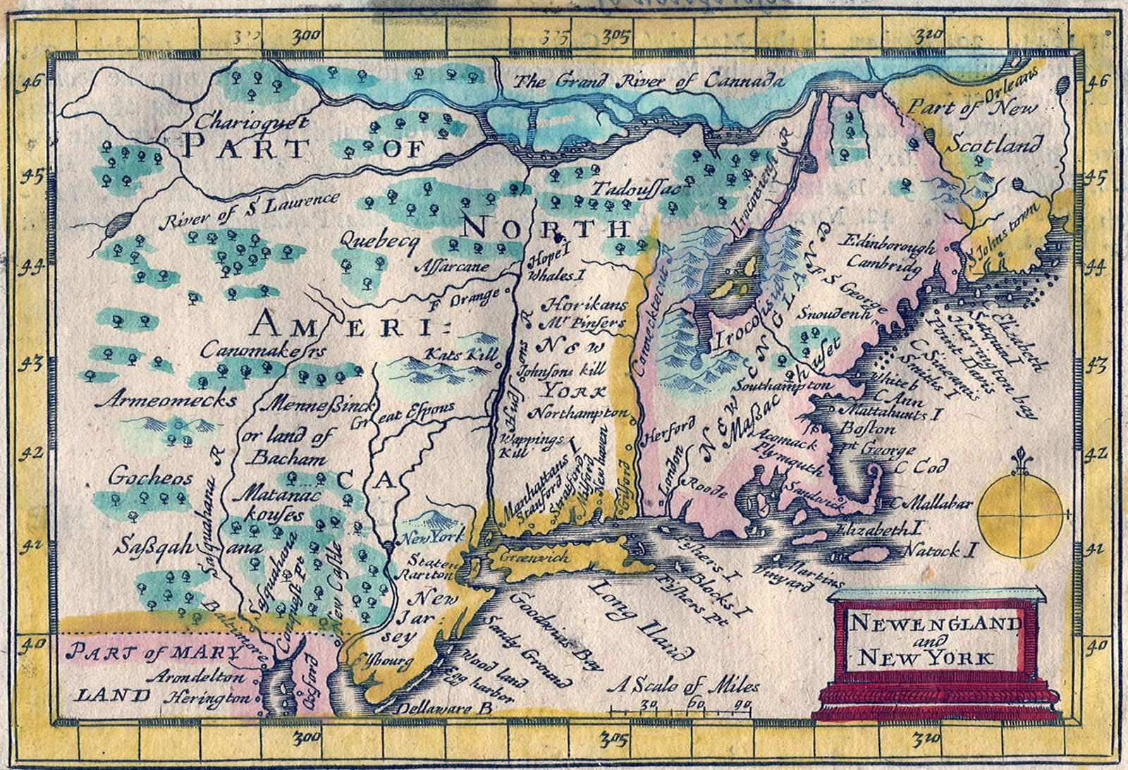 1675 map by john speed in a prospect of the most famous parts of the world notes the location of the minnisink