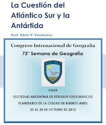 Trabajo presentado en el Congreso Internacional de Geografía. Buenos Aires 25 al 28 de octubre 2012