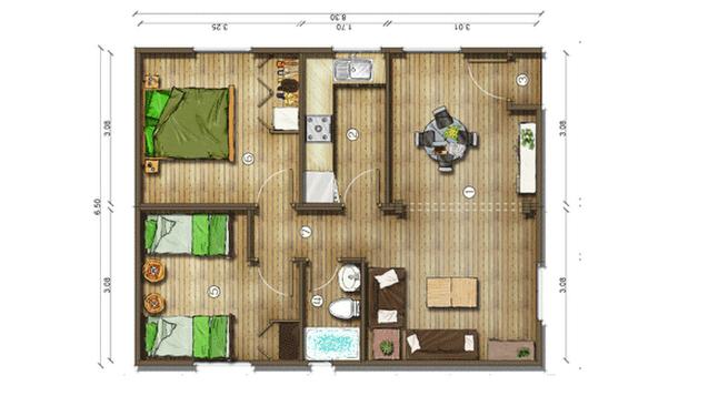 Dise os de casas planos gratis planos de casas gratis 56 m2 - Diseno de planos de casas ...
