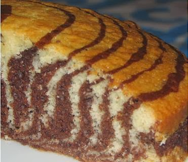 Torta cebra casera