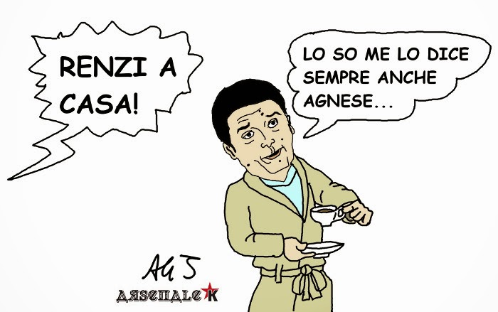 Renzi, lega, salvini, vignetta , satira
