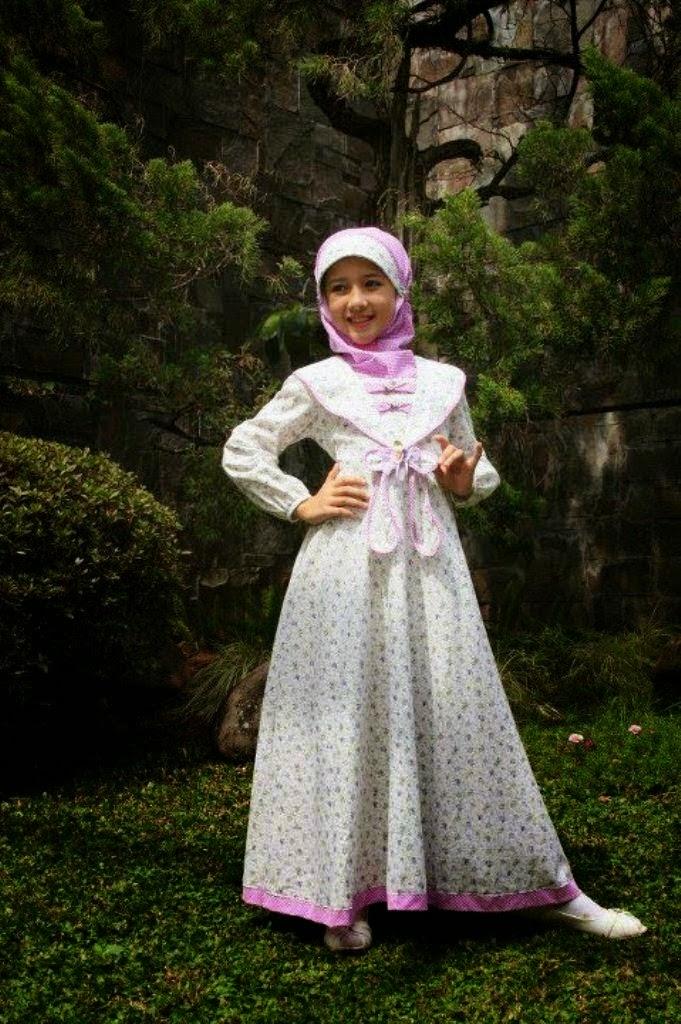 Model baju anak muslim perempuan umur 8 tahun
