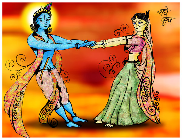 Inspiring Devotion to Radha Krishna