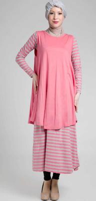 Gambar Dress Muslim Casual Terbaru 2015