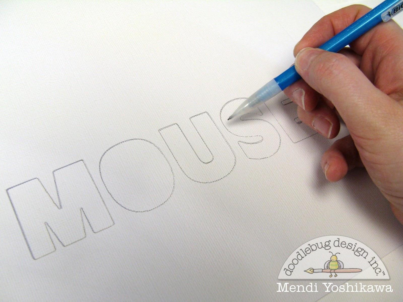 doodlebug design inc blog kraft in color mouse mania layout by mendi