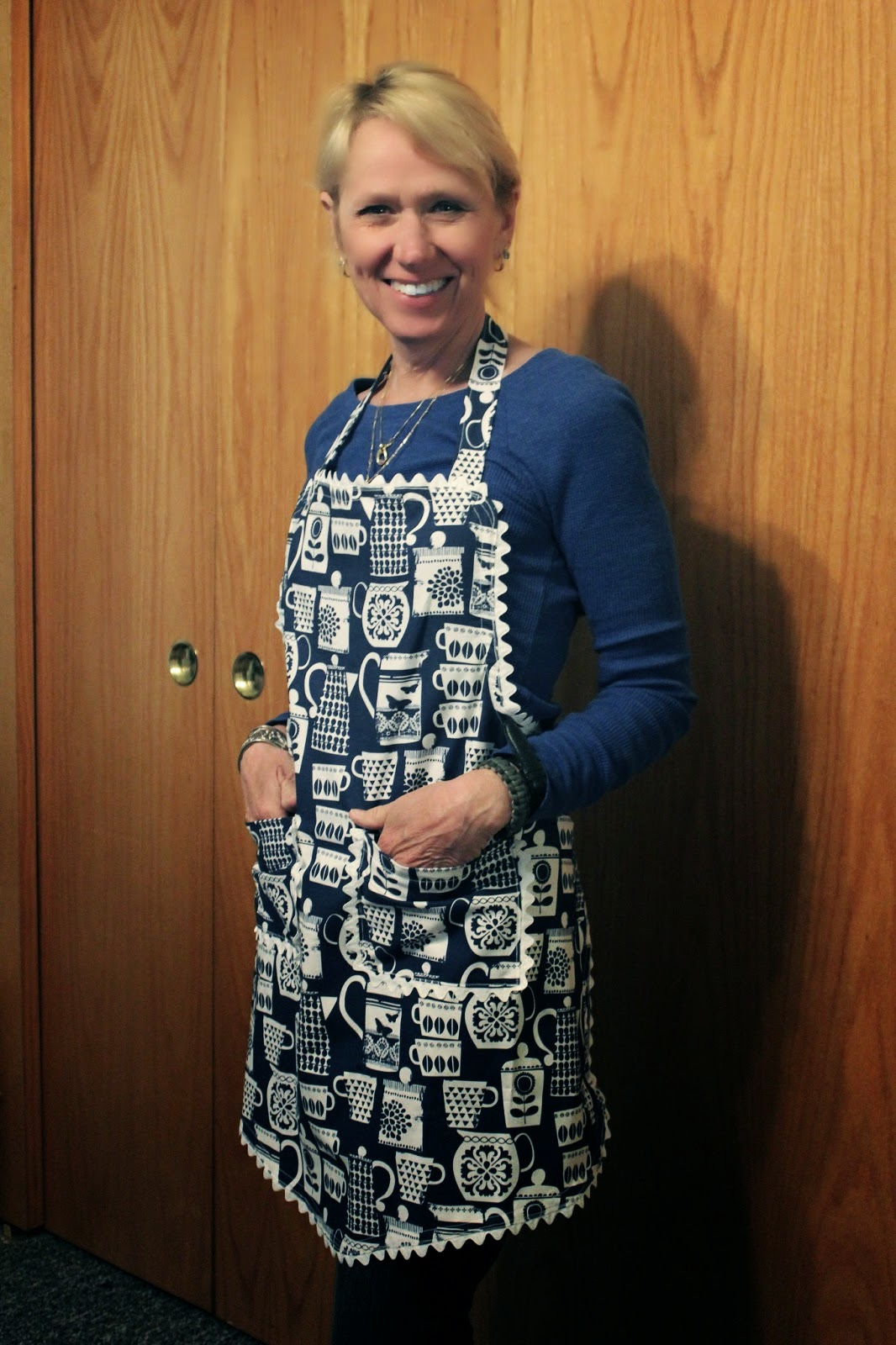 Kim in her new Apron!