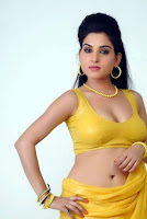 Hot Actress Kavya Singh Cleavage photos in Yellow Saree