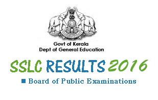 Kerala SSLC Results 2016