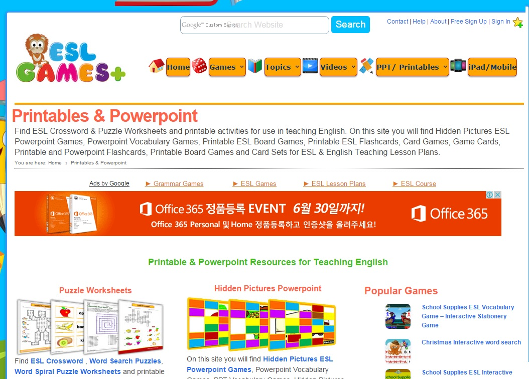 Computer Games For ESL ~ Warm Ups and Closing Activities ~ Mrs ...