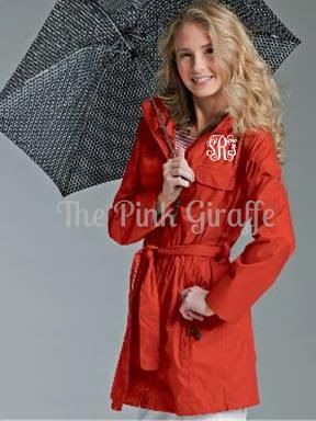 personalized ladies coral trench coat