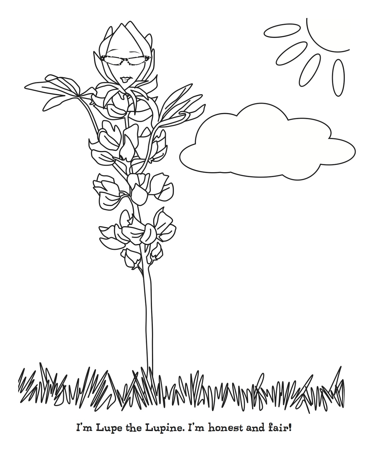 Daisy Lupe Coloring Page