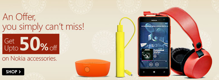 Get upto 50% off on Nokia Accessories
