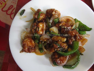 Chilly Garlic Shrimp Prawn at Mango People Golpark Kolkata