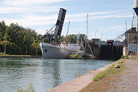 Ship leaving Welland Canal Lock 4