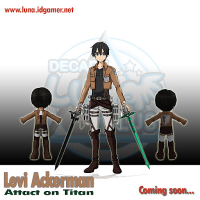 Levi Attack of titan Decade luna plus Private server
