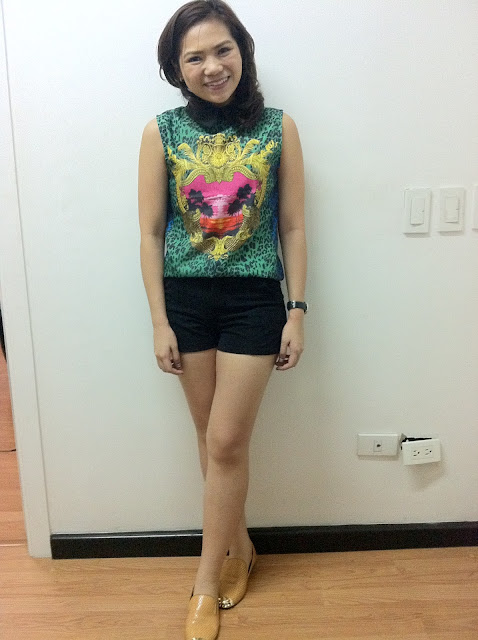 Celine Estella wearing a black shorts she got from tiangge