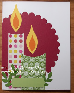 Punch Art Card - Candle flames made with the Blossom Petals Builder Punch