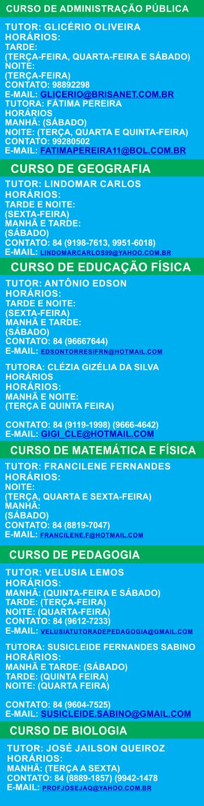 HORÁRIO DOS TUTORES 2014.2