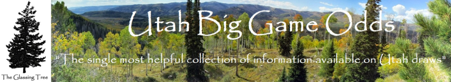 Utah Big Game Odds: The single most helpful collection of information available on Utah draws.