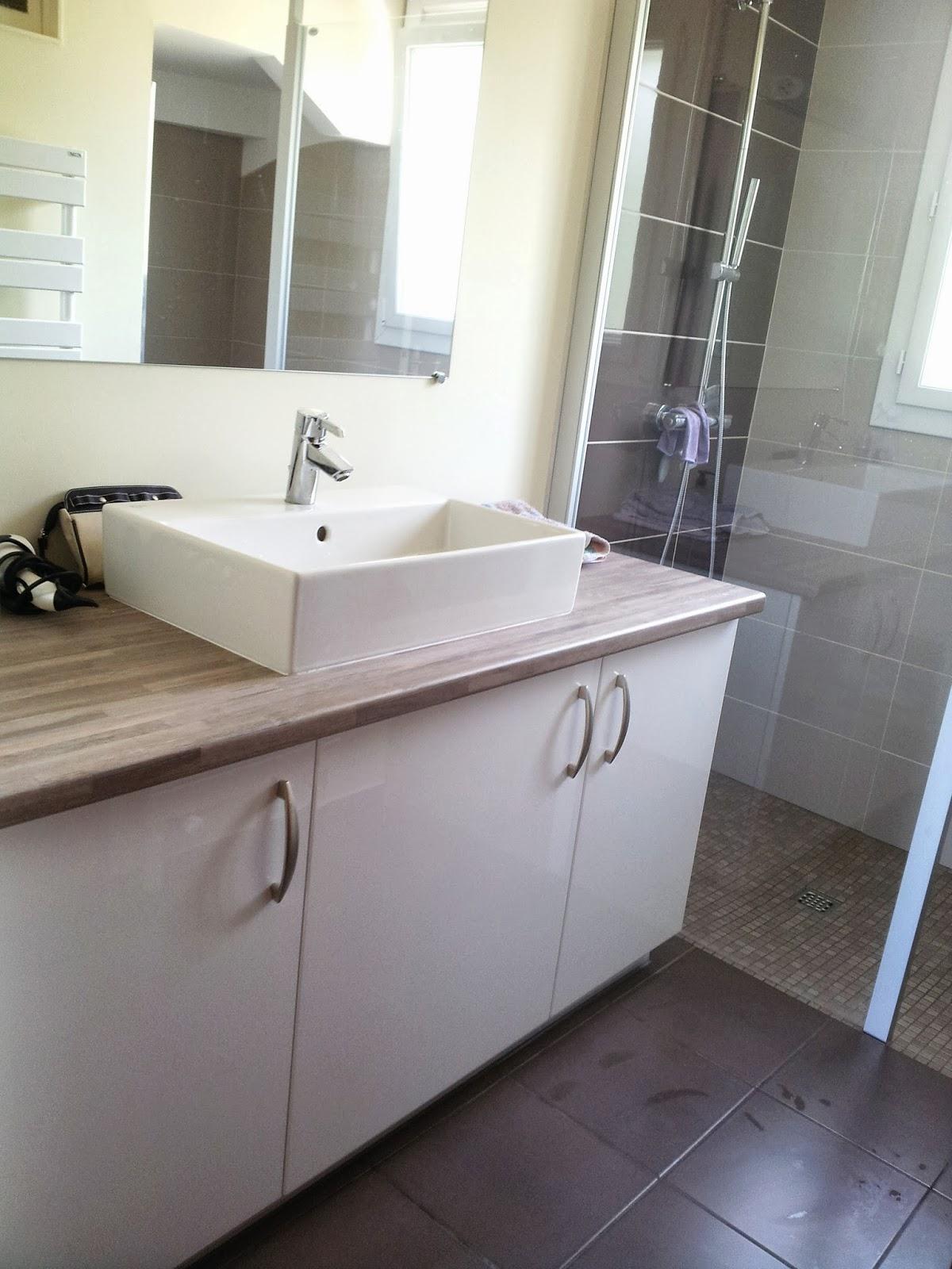 Salle de bain verte et beige avec des id es for Salle de bain verte
