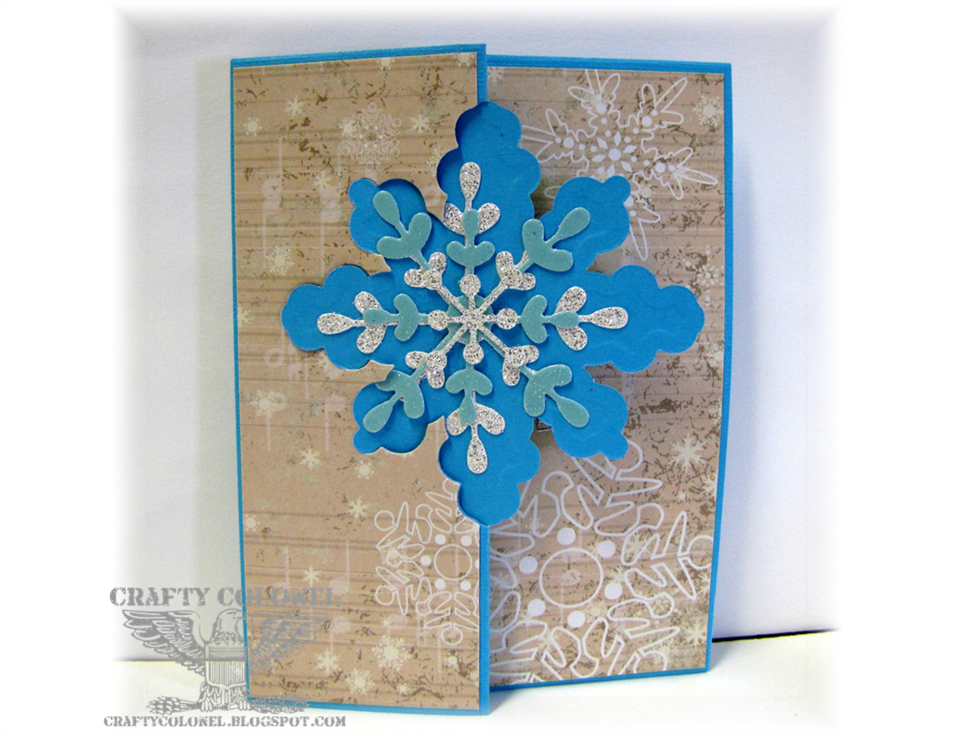 Crafty Colonel, StampinUp, Thinlit Snowflake Die, Winter Card, House of Cards Challenge Blog,