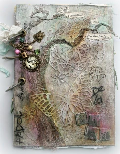 Scraptella tutorial las cubiertas del libro - Libros antiguos para decoracion ...