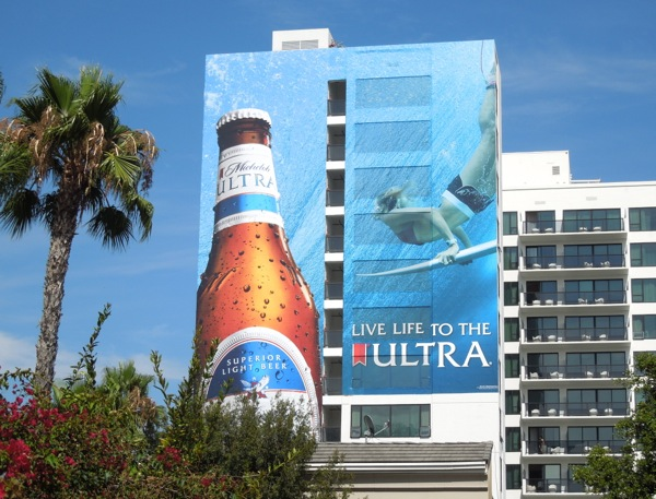 Michelob Ultra Live life to the Ultra surfer billboard