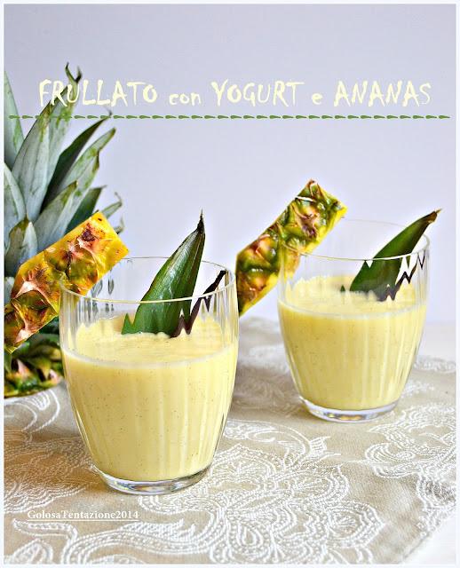 frullato con yogurt e ananas