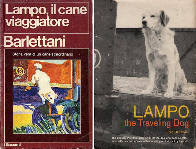 Lampo, il cane viaggiatore - Lampo, the traveling dog, book covers