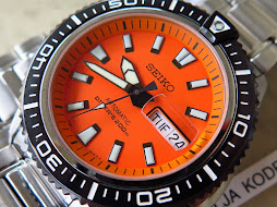 SEIKO DIVER ORANGE DIAL WITH BRACELET - SEIKO SRP497 - AUTOMATIC 4R36