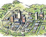 Illustratie cover Klimaatactieve Stadsbeek Enschede: integrale maatregelen tegen wateroverlast en hittestress