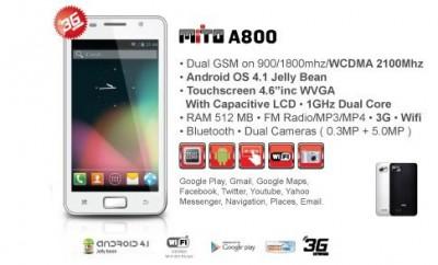 Spesifikasi dan Harga Smartphone Murah Mito A800