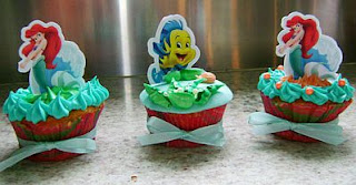 Cupcakes de la Sirenita, parte 1