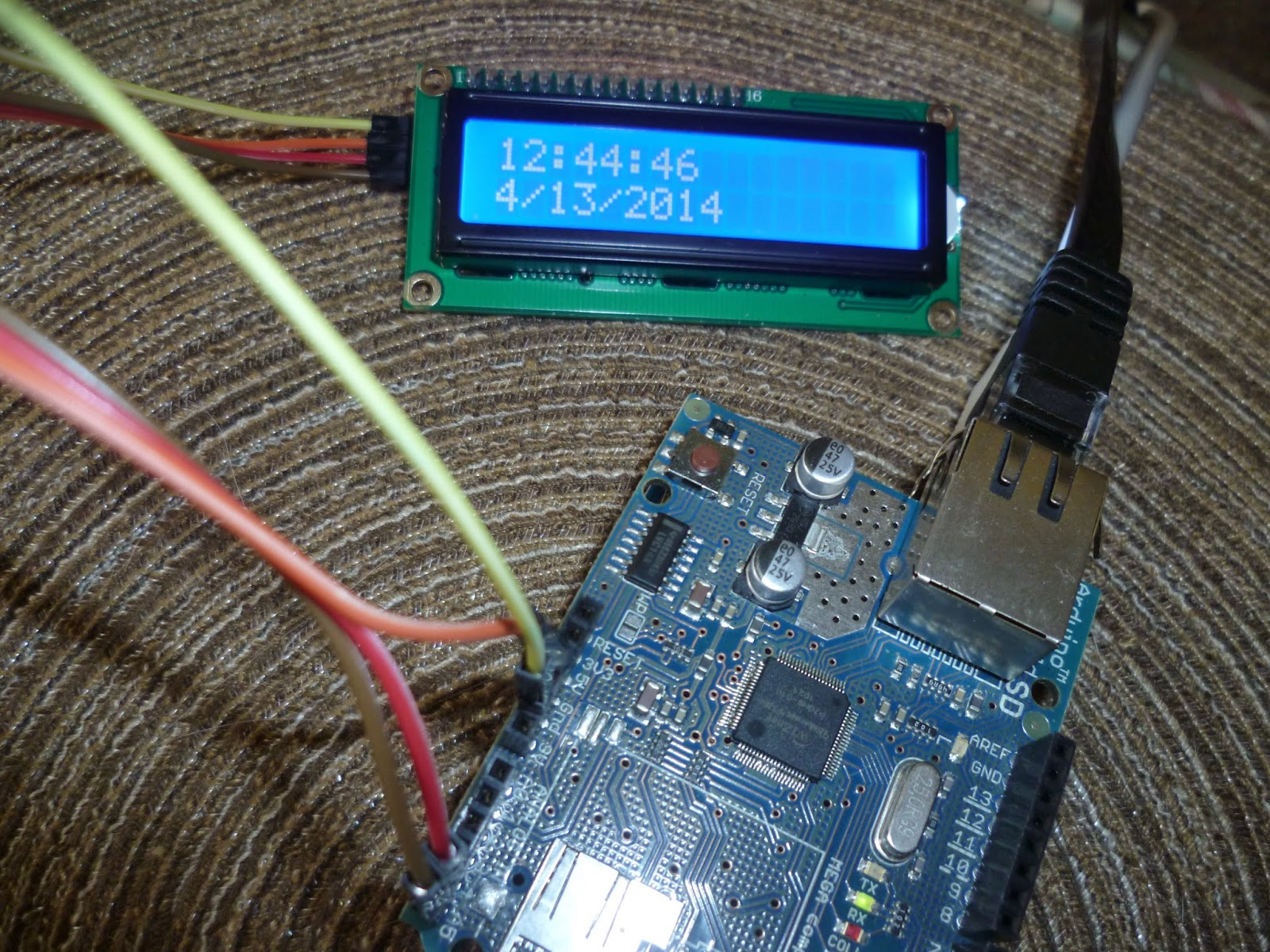 Arduino your home environment internet time client