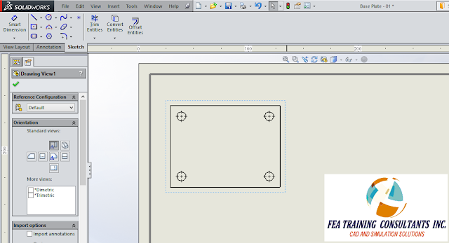 drawing view in solidworks