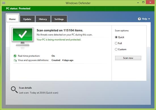 : Windows 8 and 8.1 – Cannot start Windows Defender - Error 577 ...