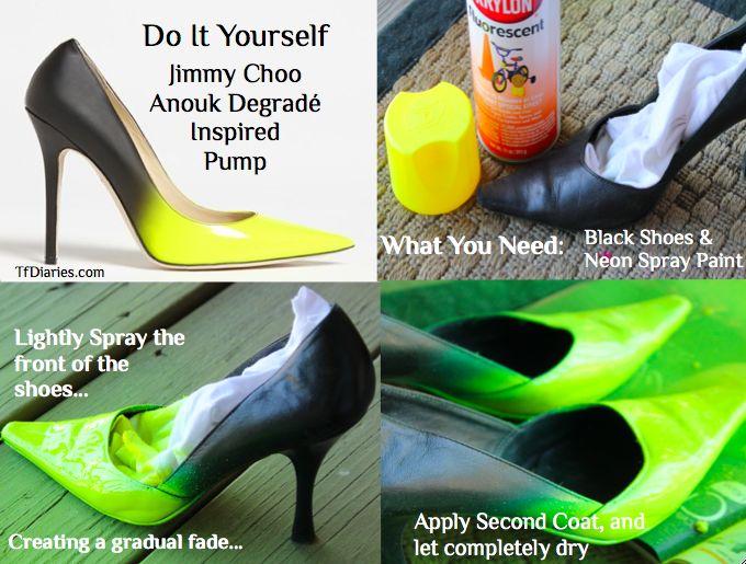 DIY cómo hacerse unos Jimmy Choo Anouk degradé en 3 sencillos pasos