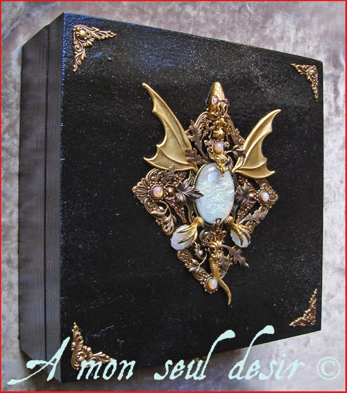 Boite Bijoux Dragon Médiéval Opale Daenerys Targaryen Opal Fantasy Games of Thrones Jewelry Box