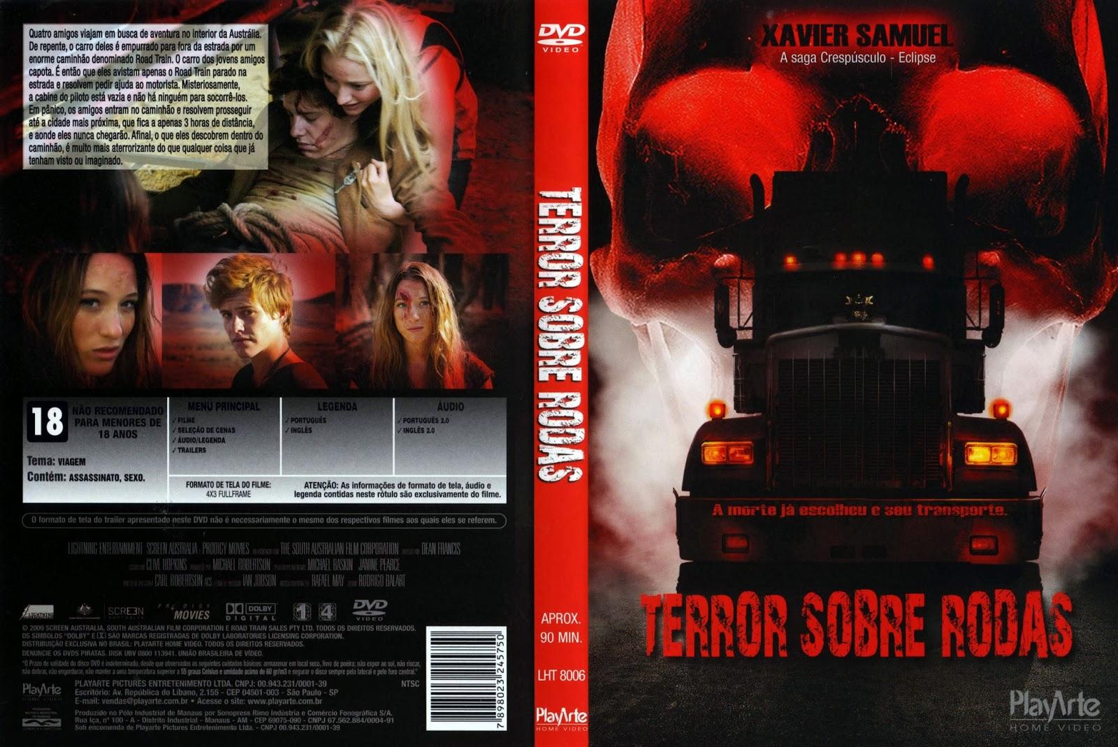 Terror Sobre Rodas DVD Capa