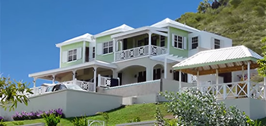 Beachfront home for sale overlooking Turtle Beach, St Kitts