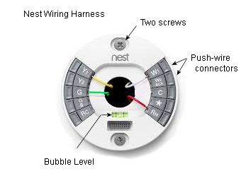 2013_01_NestWiringHarness keyliner blogspot com nest thermostat quick review 3 Wire Thermostat Wiring Diagram at gsmx.co