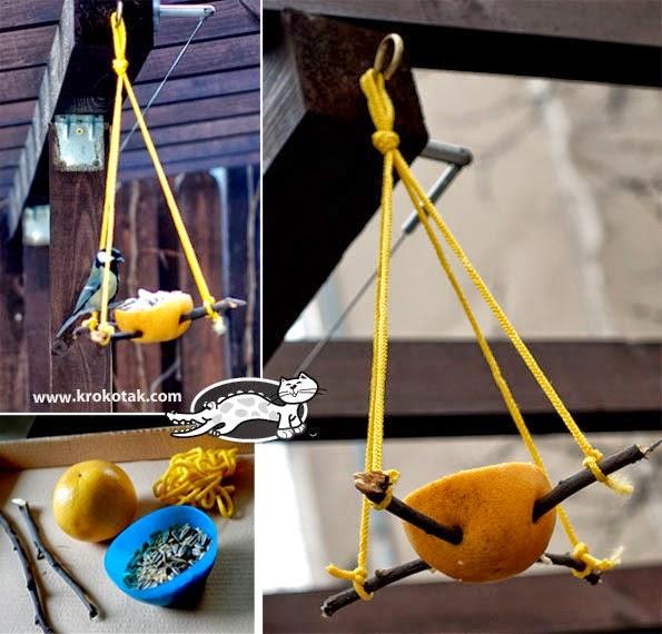 {Πώς να φτιάξετε ένα πανεύκολο οικολογικό δοχείο τροφής για πουλιά!}